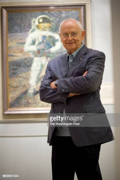 Michael Temchine/FTWP LOCATION Smithsonian Air and Space Museum Washington DC CAPTION Astronaut/Artist Alan Bean at the Air and Space Museum on...