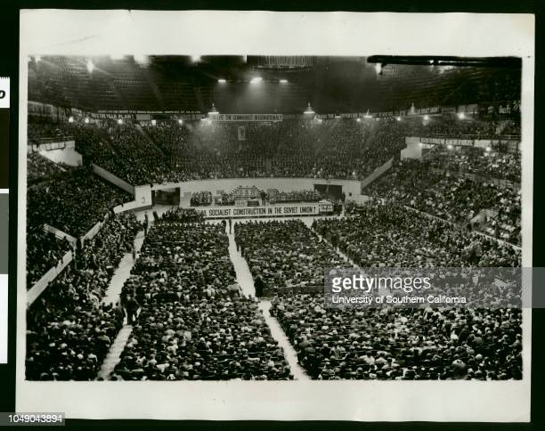 Photograph '561046 watch your credit International Newsreel photo slug when good reds get together to honor Lenin New York View of the interior of...