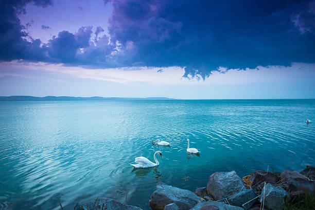 Photograph a sunset at Lake Balaton.