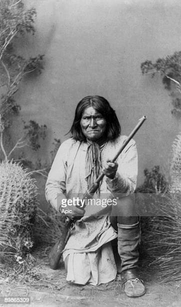 GERONIMO Photograph by A F Randall Copyrighted 1886
