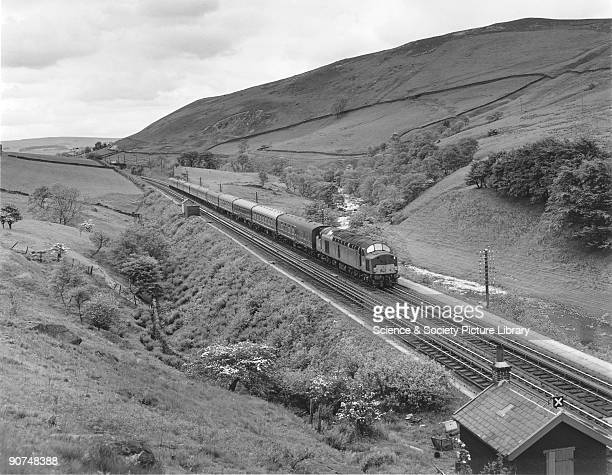 Photograph by Bishop Eric Treacy of a Type 4 locomotive at Dillicar Cumbria on the West Coast Main Line from England to Scotland Treacy was often...