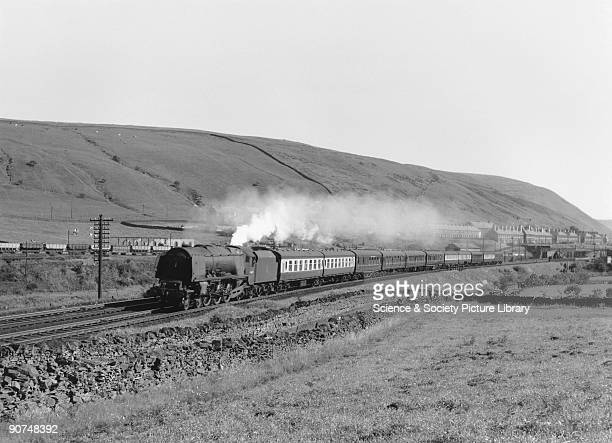 Photograph by Bishop Eric Treacy of the 'City of Liverpool' with a northbound express train This Coronation Class steam locomotive No 46247 was...