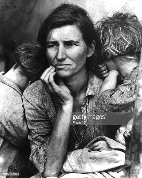 Photograph by Dorothea Lange. Immigrant woman, aged 32, 'Peapickers' in California United States, Washington. Library of Congress, .
