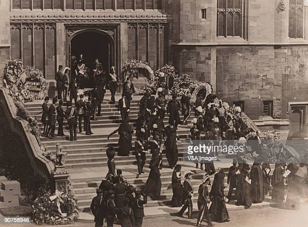 UNITED KINGDOM NOVEMBER 15 Photograph by Horace W Nicholls of mourners leaving after the funeral of King Edward VII at St George's Chapel Windsor