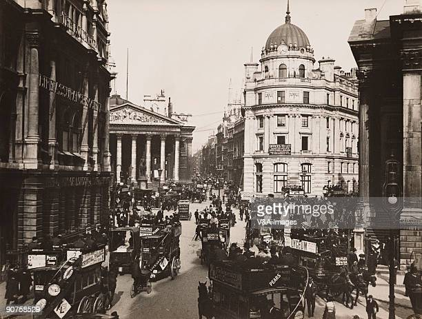 UNITED KINGDOM NOVEMBER 15 Photograph by Horace W Nicholls of the Battle of Trafalgar centenary celebrations On the left is the Equitable Life...