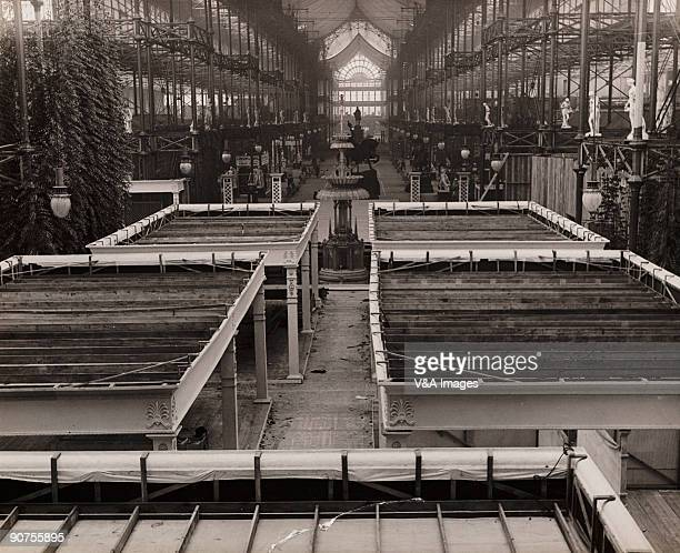 UNITED KINGDOM NOVEMBER 23 Photograph by Horace W Nicholls showing the interior of the Crystal Palace with the tops of pavilions