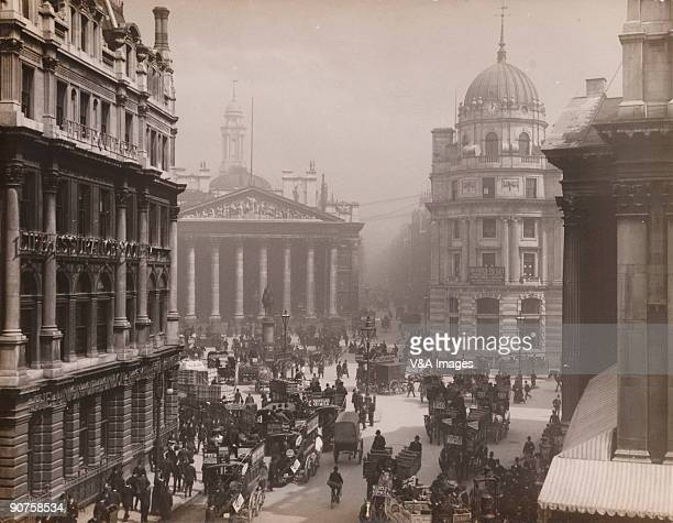 'UNITED KINGDOM NOVEMBER 15 Photograph by Horace W Nicholls with the Equitable Life Assurance Society and the Union of London Smiths Bank on the left...