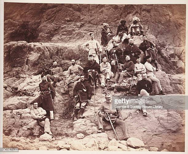 A photograph by John Burke [18451900] of a group of British officers of the 51st Regiment taken in 1878 and published in the album 'The Afghan War...