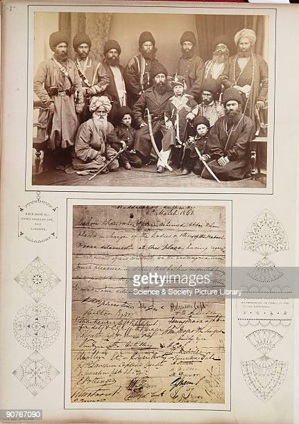 A photograph by John Burke [18451900] of the Afghan Amir Shere Ali Khan [1825�1879] surrounded by his sirdars and family taken in about 1878 and...
