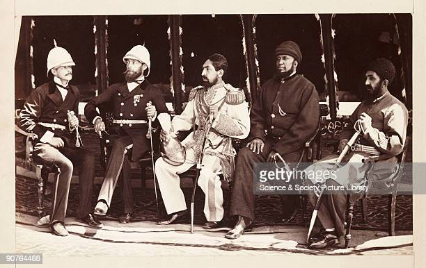 A photograph by John Burke [18451900] of the Afghan Amir Yaqub Khan [ d 1914] and the British diplomat Major Sir Pierre Louis Napoleon Cavagnari...