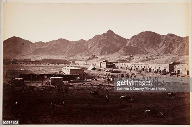 A photograph by John Burke [18451900] of the fort at Dakka taken about 1878 and published in the album 'The Afghan War Attogk to Jellalabad Gandamak...