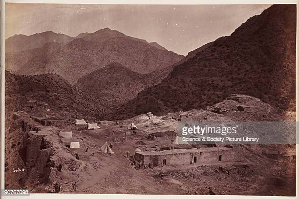 A photograph by John Burke [18451900] of the interior of the Afghani fort of Ali Masjid taken in 1878 and published in the album 'The Afghan War...
