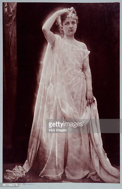 Photograph by Julia Margaret Cameron of actress Isabel Bateman . Bateman acted leading roles with Henry Irving throughout the 1870s, appearing in his...