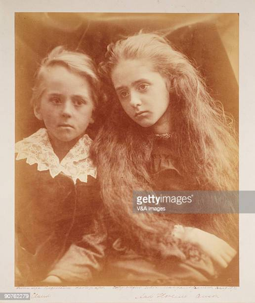 UNITED KINGDOM FEBRUARY 03 Photograph by Julia Margaret Cameron of the Earl of Lichfield's children Lady Florence Beatrice Anson and the Hon Claude...