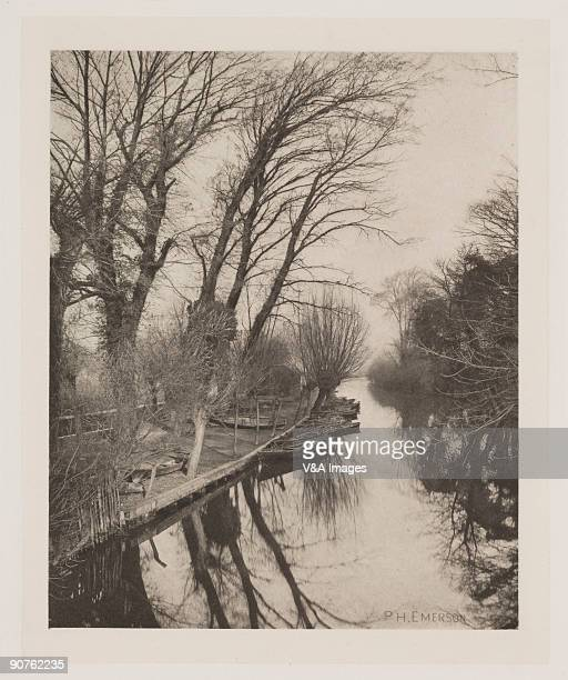 Photograph by Peter Henry Emerson of a Cambridgeshire scene.