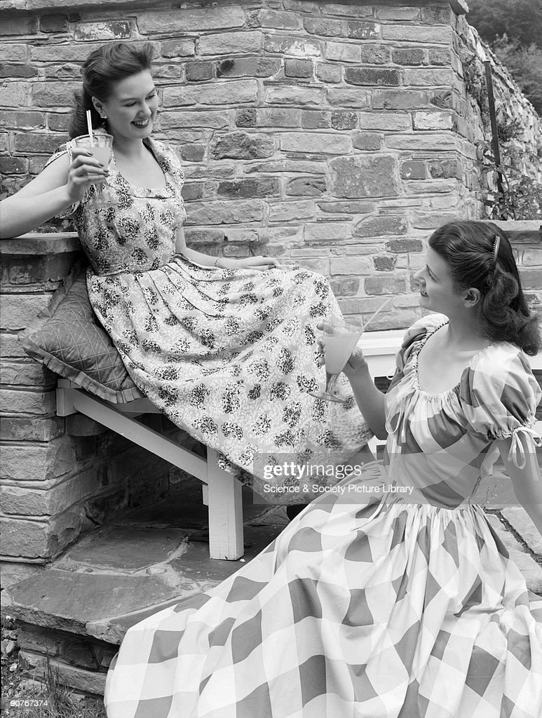 Two women in summer clothes, c 1948. : News Photo