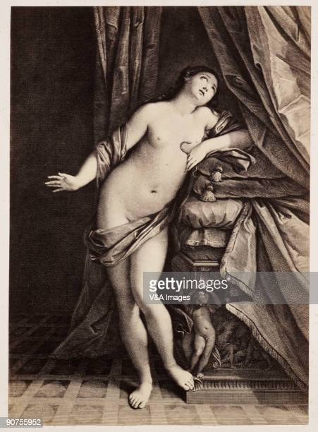 Photograph by Roger Fenton of a painting showing the Egyptian queen holding an asp to her breast Fenton was a founding member of the Royal...
