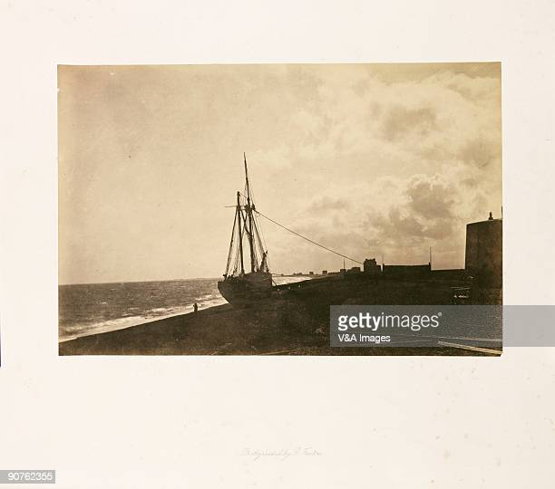 UNSPECIFIED JANUARY 26 Photograph by Roger Fenton of a ship on the beach at Hythe in Kent An unusual subject for Fenton this seaside view is notable...