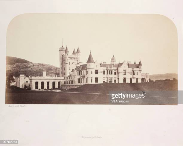 'SCOTLAND JANUARY 26 Photograph by Roger Fenton of Balmoral Castle Aberdeenshire the Scottish home of the Royal Family just after it had been built...