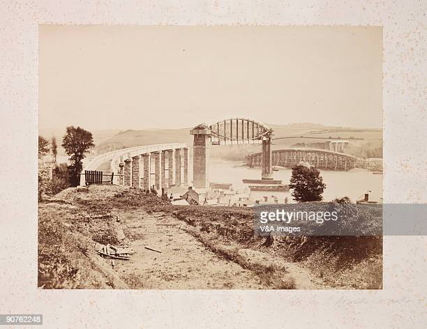 UNSPECIFIED JANUARY 26 Photograph by Roger Fenton of Saltash Bridge across the River Tamar in Cornwall The railway bridge was the last major work of...