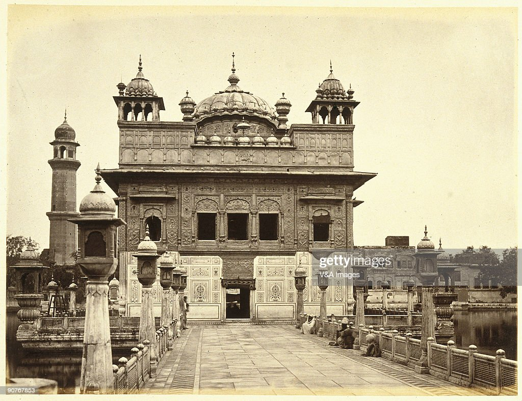 `INDIA FEBRUARY 24 Photograph by Samuel Bourne of the most holy Sikh gurdwara Bourne a pioneer of travel photography began his working life as a bank.