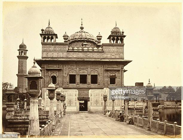 INDIA FEBRUARY 24 Photograph by Samuel Bourne of the most holy Sikh gurdwara Bourne a pioneer of travel photography began his working life as a bank...