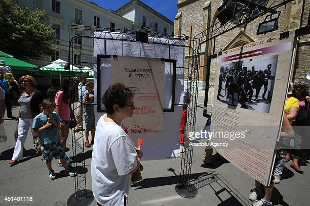 Photograph exhibition opened that named ''Sarajevo Murder'' on the 100th anniversary of Gavrilo Princip's shot which started First World War in...