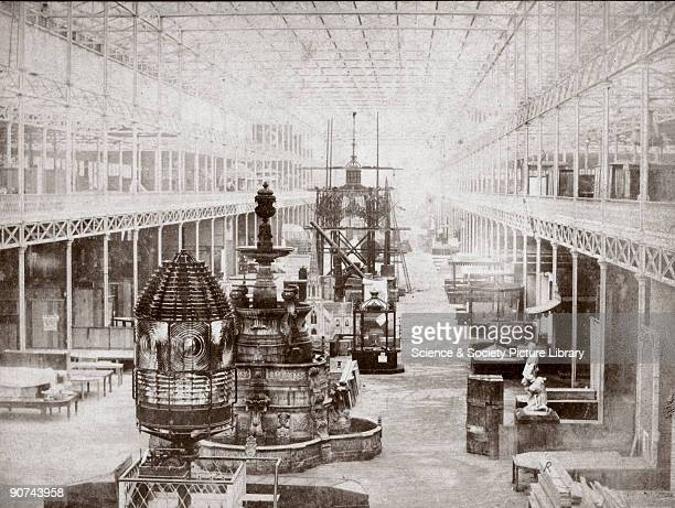 Photograph from a set of stereo pairs for use with the Wheatstone stereoscope The Crystal Palace was built to house the 'Great Exhibition of the...