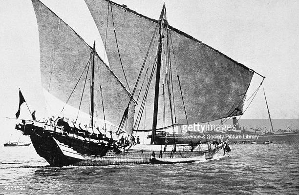 Photograph from 'Native Craft' published by the Bombay Port Trust showing a type of twomasted trading vessel used in the Indian Ocean Baghlas are an...