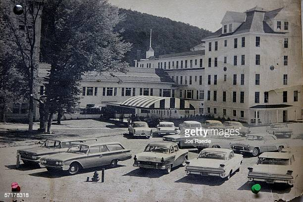A photograph from the 1960s hangs from a wall at the Balsams Grand Resort Hotel originally opened as the Dix House just after the Civil War but...