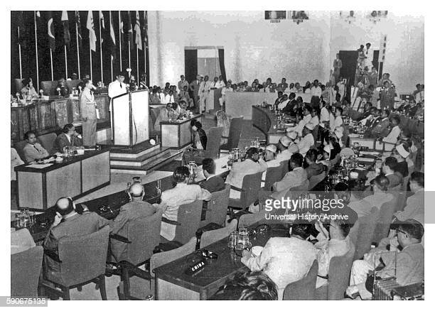 Photograph from the Bandung Conference a meeting of Asian and African states who were newly independent Bandung Indonesia Dated 1955