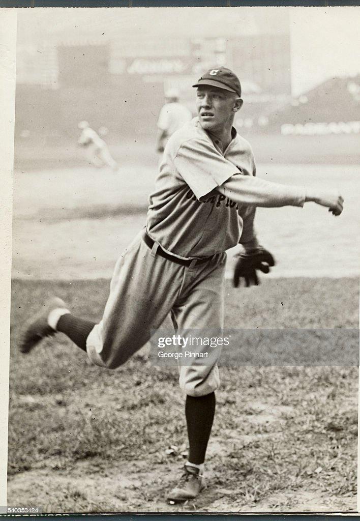 George Uhle on the Baseball Field : News Photo
