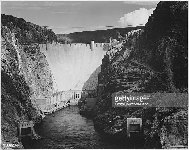 Photograph Looking Down the Colorado River Toward the Boulder Dam Ansel Adams Photographs of National Parks and Monuments Image courtesy National...