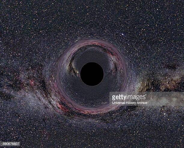 Photograph of a black hole in the milky way Dated 2014