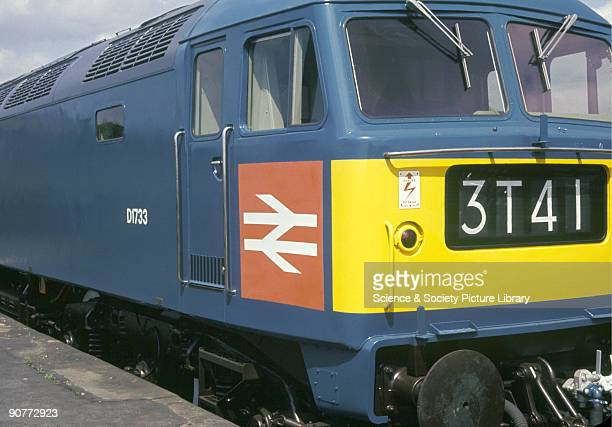 Photograph of a British Railways diesel locomotive, taken during the British Transport Films production of 'A Corporate Identity' filmed during April...