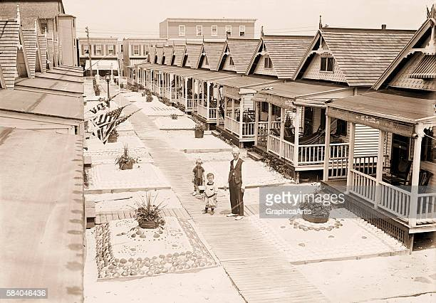Photograph of a bungalow colony in Rockaway New York 1920s Silver print