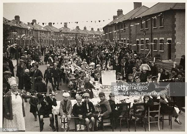 Photograph of a Coronation tea party held at Grays, Thurrock, Essex, taken by an unknown photographer in May 1937. This photograph is from an album...