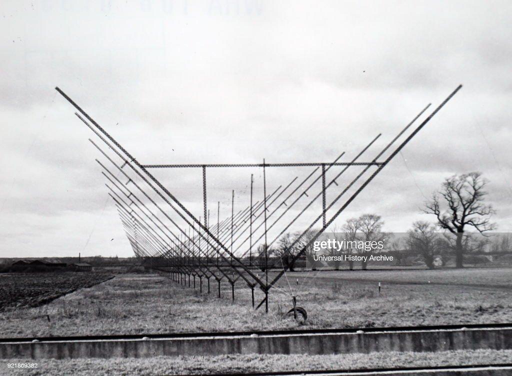 A fixed radio interferometer aerial. : News Photo