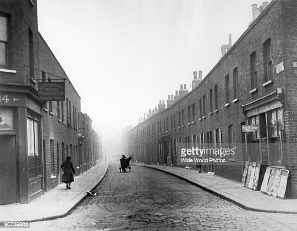 Photograph of 'A full and frank investigation of the actual condition in the slums of London is shortly to take place Although the slums are...