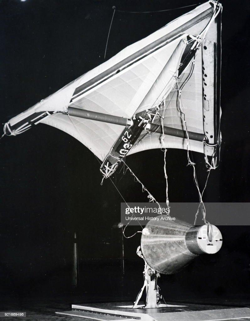 A half scale model of the Gemini 1 space capsule. : News Photo