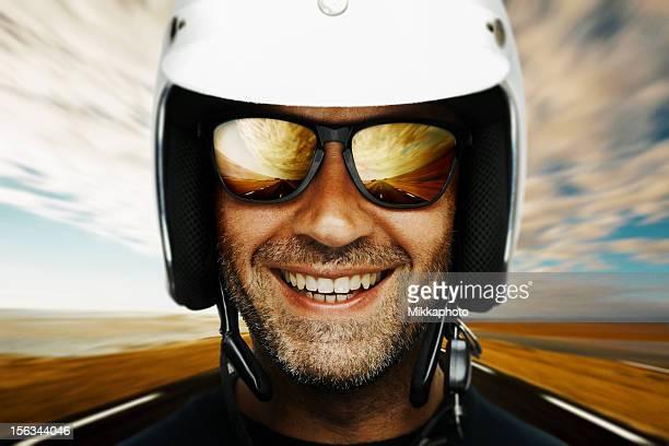 Heureux de motard