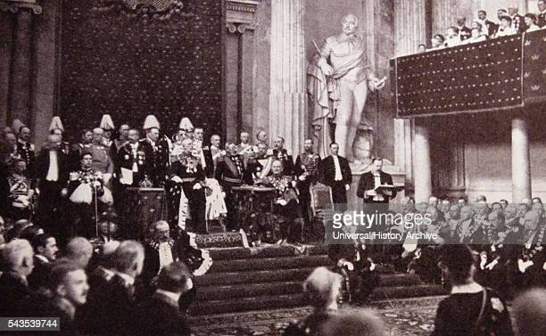 Photograph of a meeting in The Riksdag Sweden Dated 20th Century