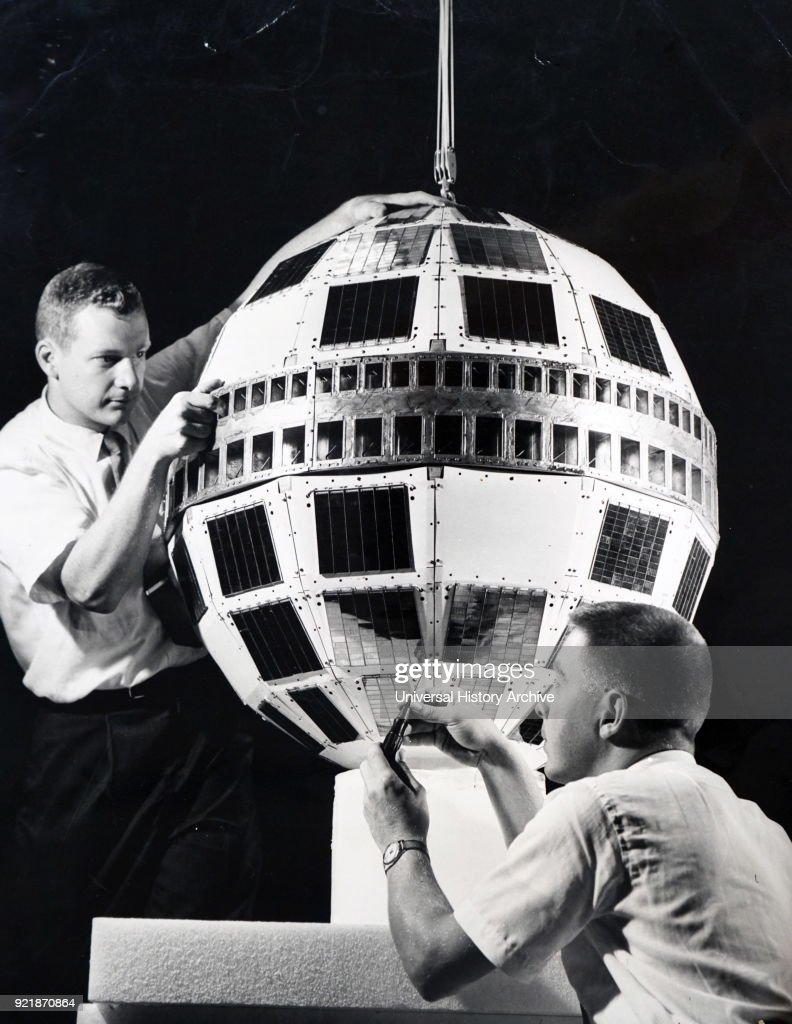 A model Telstar satellite. : News Photo