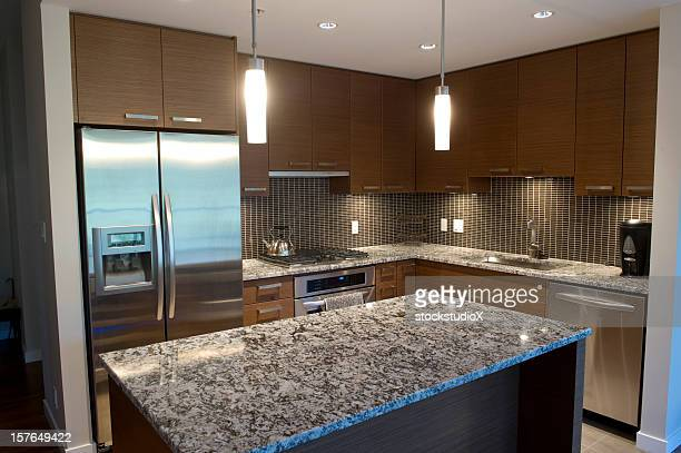 Photograph of a new luxurious kitchen