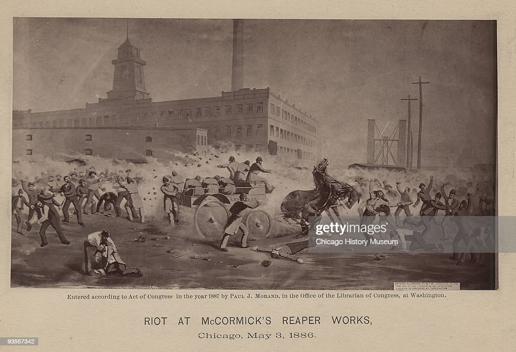 Riot At McCormick's Reaper Works : News Photo