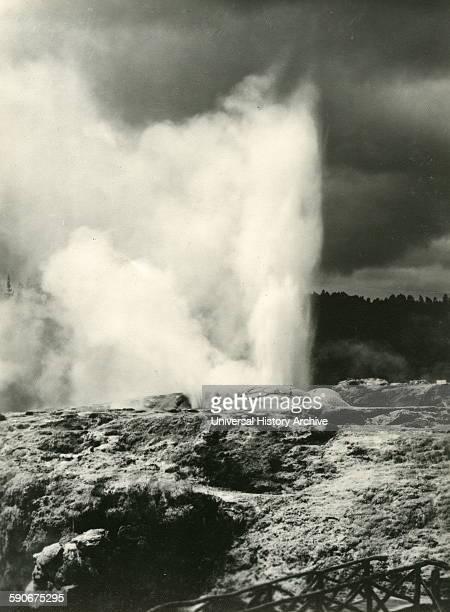 Photograph of a Pohutu Geyser Rotorua North Island New Zealand Dated 1930