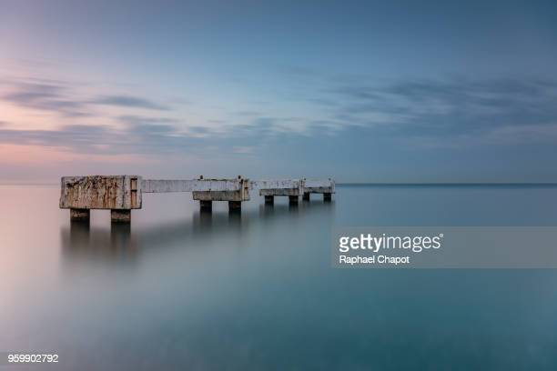 photograph of a pontoon in nice - pontoon bridge stock pictures, royalty-free photos & images