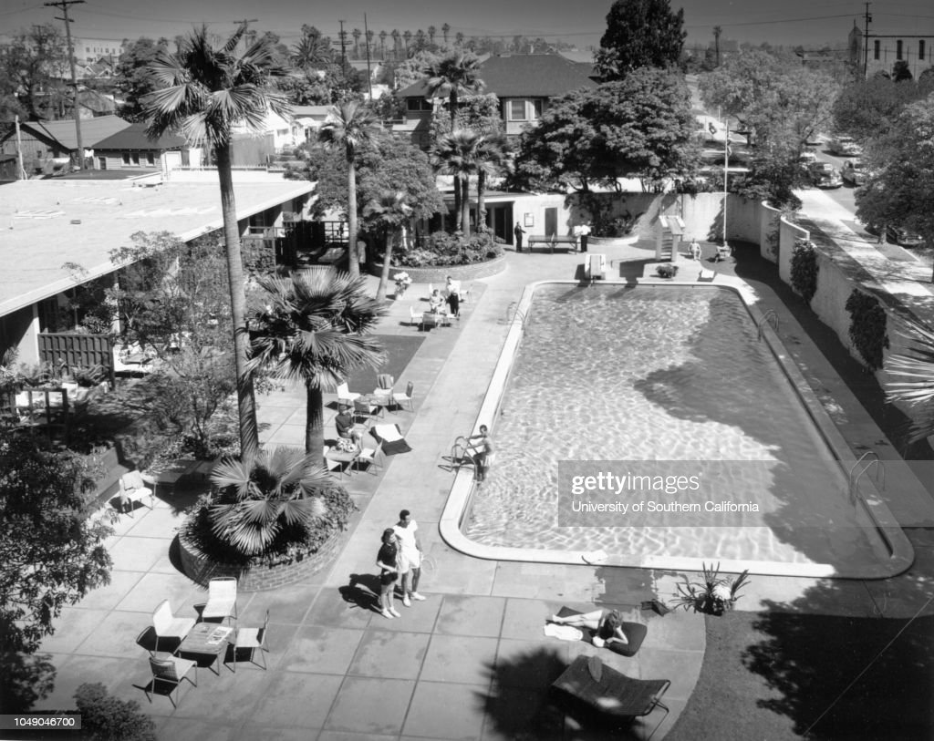 Pool and Lanai section at The Town House hotel , Los Angeles : News Photo
