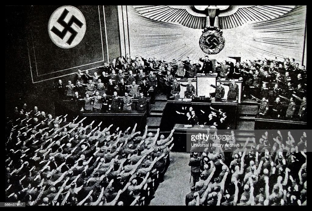Photograph of a Reichstag Rally from the Kroll Opera House : News Photo