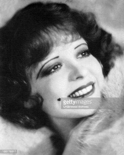 A photograph of a smiling Clara Bow 'The It Girl' Hollywood California 1926